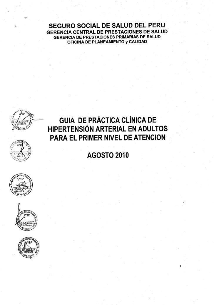 ~   SEGURO SOCIAL DE SALUD DEL PERU    GERENCIA CENTRAL DE PRESTACIONES      DE SALUD      GERENCIA DE PRESTACIONES PRIMAR...