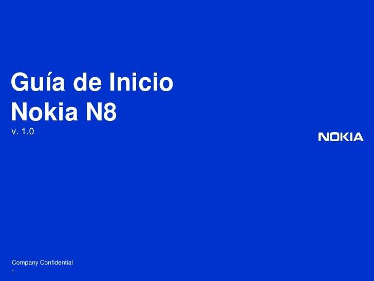 1<br />Guía de InicioNokia N8<br />v. 1.0<br />