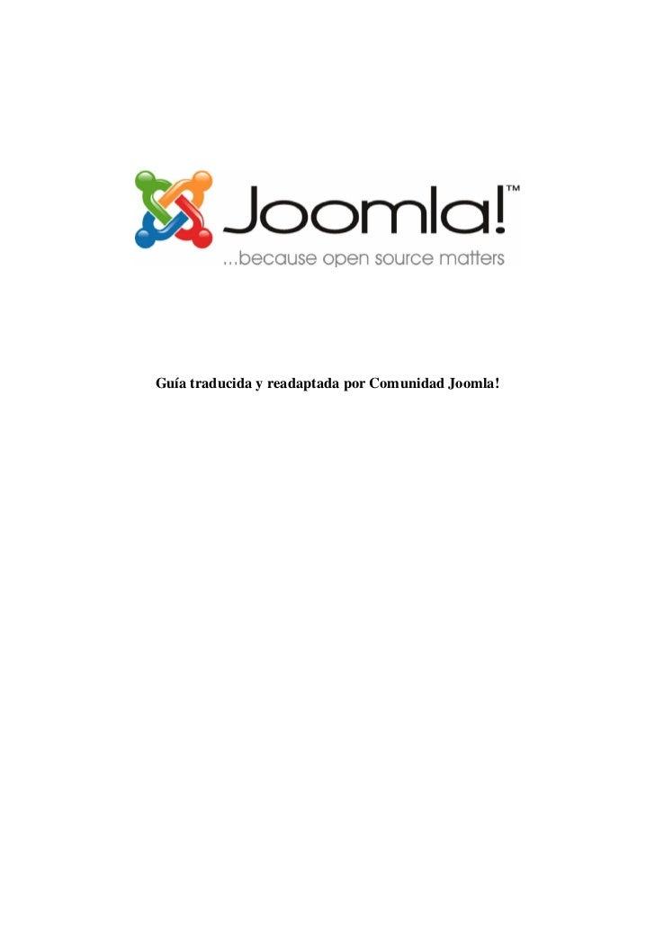 Guía traducida y readaptada por Comunidad Joomla!