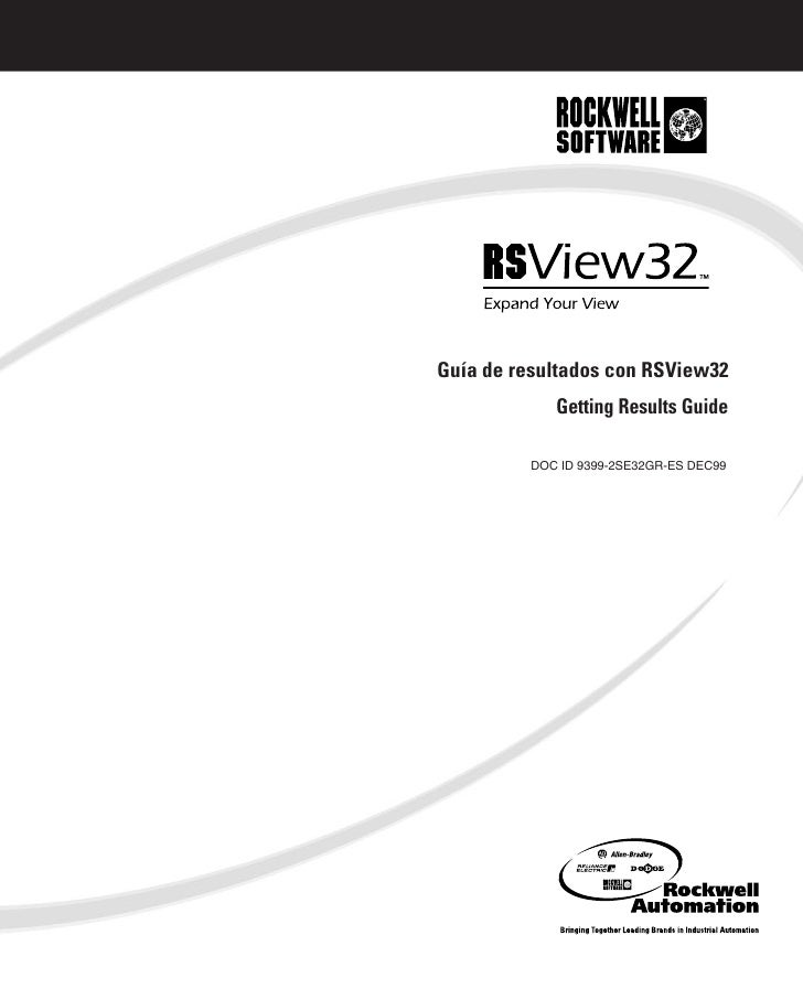 Guía de resultados con RSView32            Getting Results Guide         DOC ID 9399-2SE32GR-ES DEC99