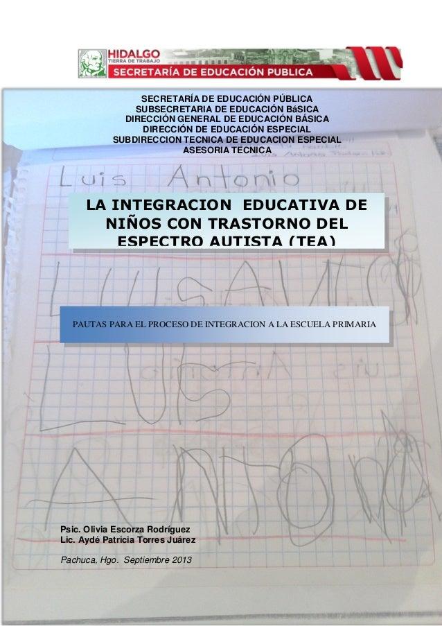 SECRETARÍA DE EDUCACIÓN PÚBLICA SUBSECRETARIA DE EDUCACIÓN BáSICA DIRECCIÓN GENERAL DE EDUCACIÓN BÁSICA DIRECCIÓN DE EDUCA...