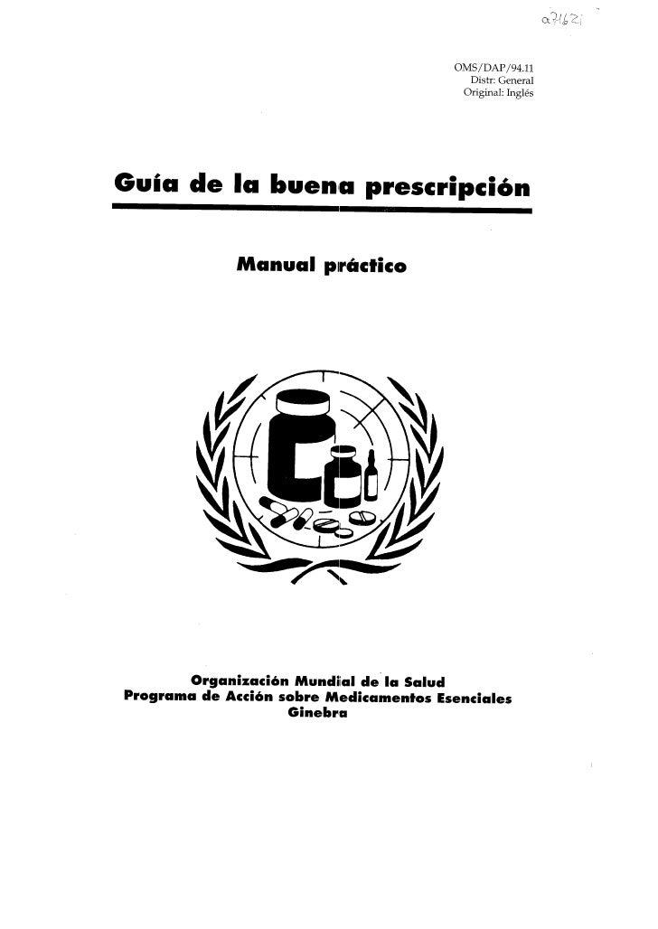 Guia de la buena prescripcion
