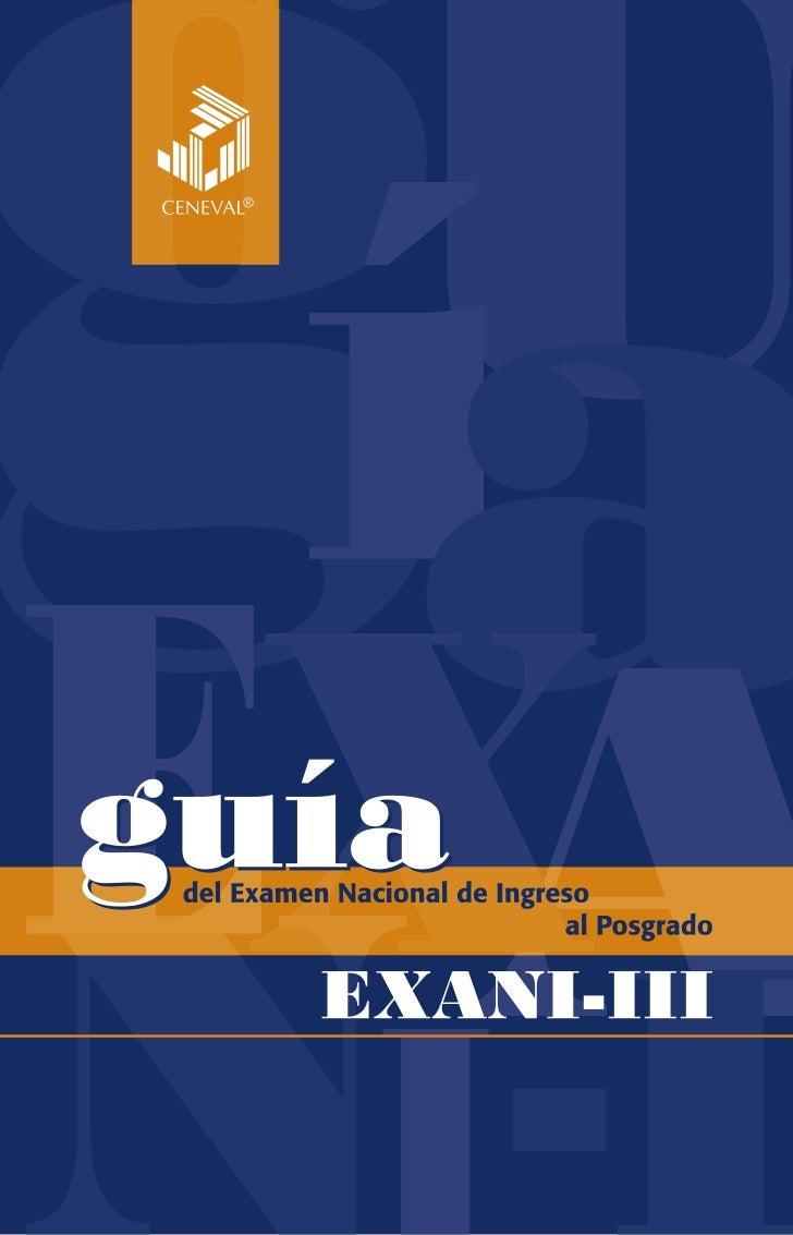 Guia del EXANI III para alumnos de Nuevo Ingreso en MEBa