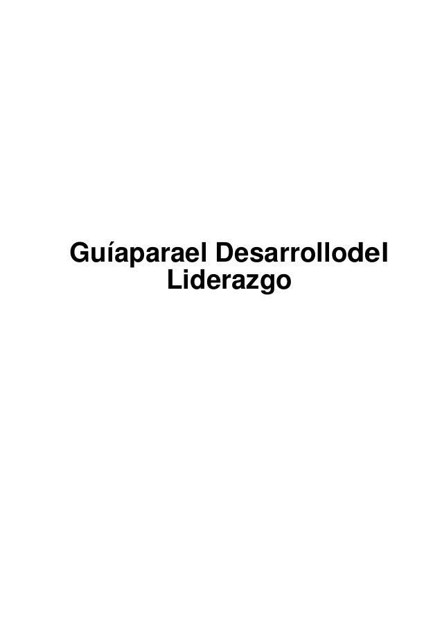 Guíaparael Desarrollodel Liderazgo