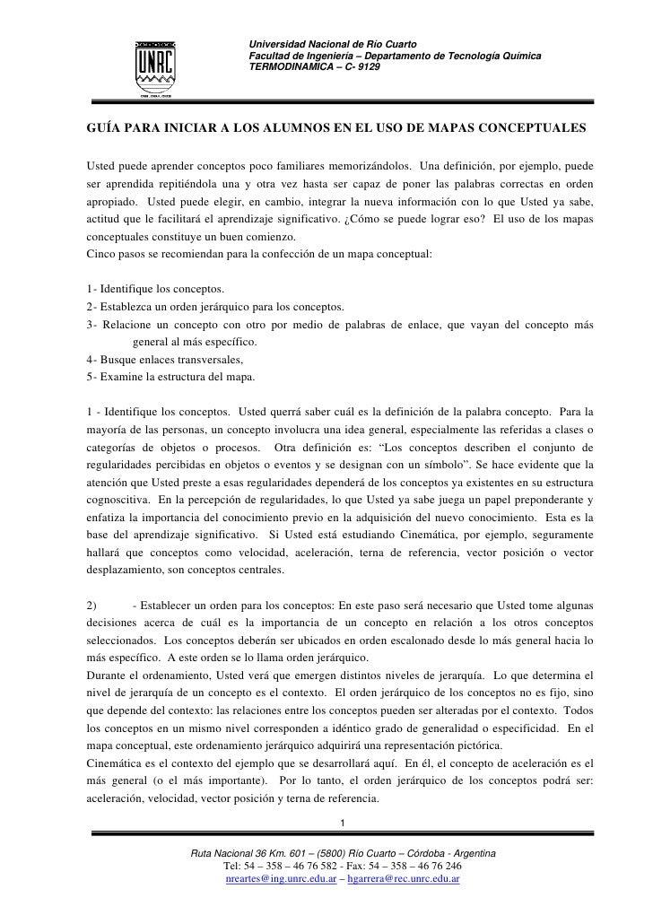 Universidad Nacional de Río Cuarto                                  Facultad de Ingeniería – Departamento de Tecnología Qu...