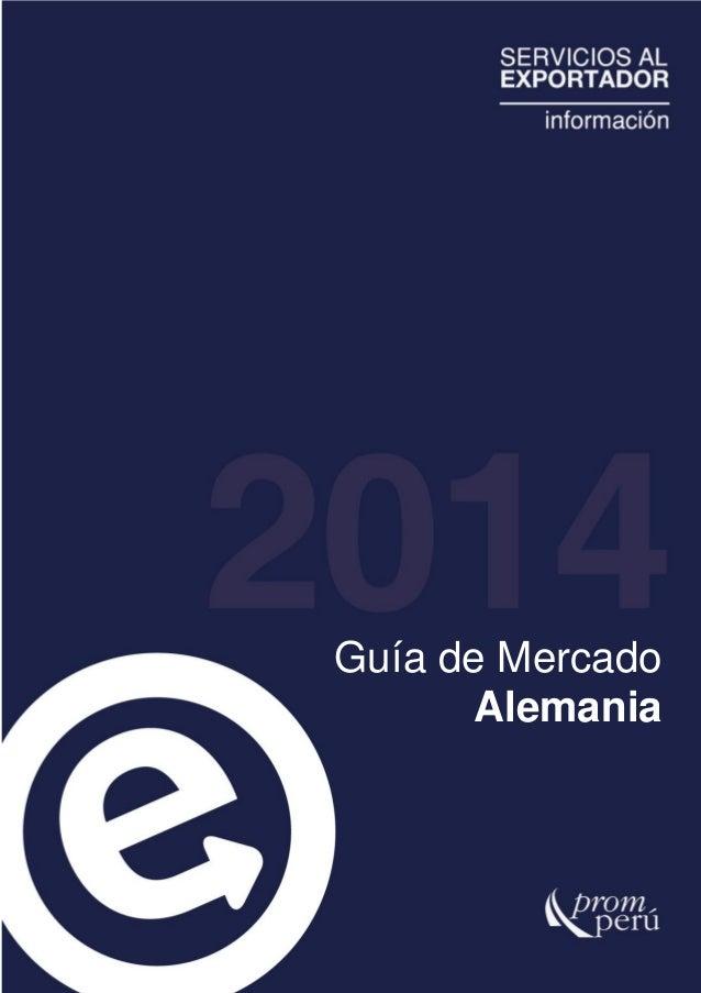 PROMPERU - Guia de Mercado: Alemania 2014