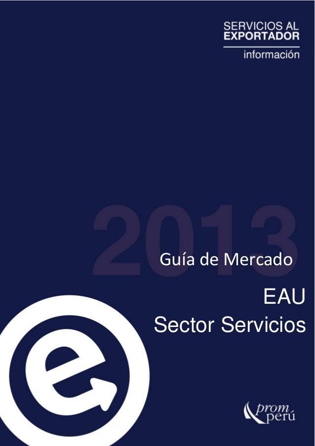 Guía de MercadoEAUSector Servicios