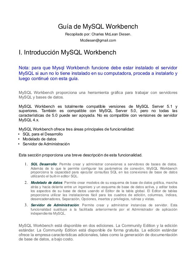Guia de my sql workbench 5 2