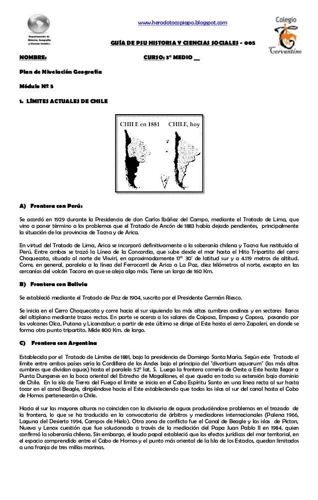 www.herodotocopiapo.blogspot.com GUÍA DE PSU HISTORIA Y CIENCIAS SOCIALES - 005 NOMBRE: CURSO: 3° MEDIO __ Plan de Nivelac...