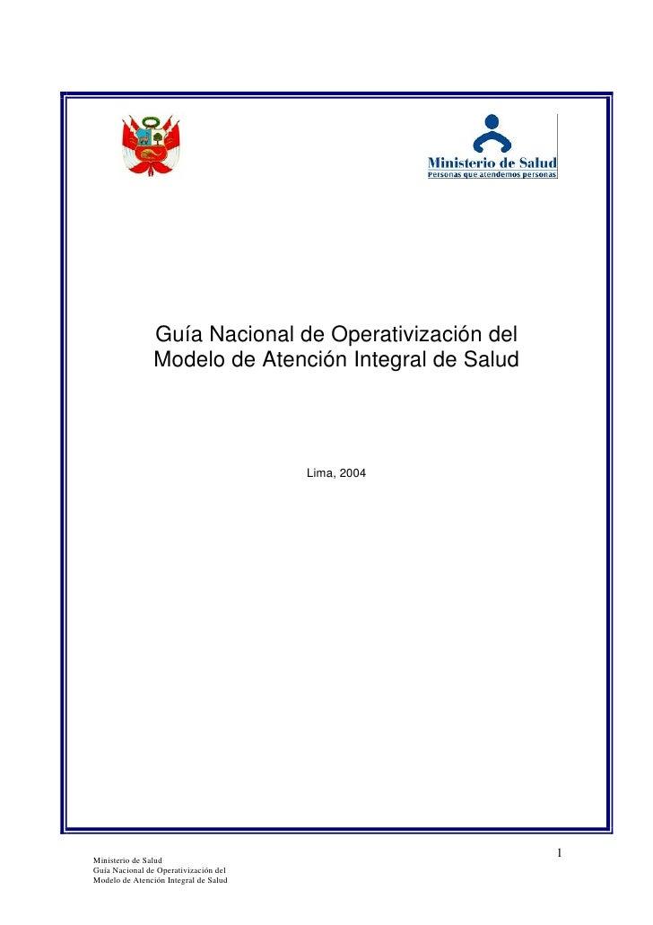 Guia de operativizacion del manual de atencion integral