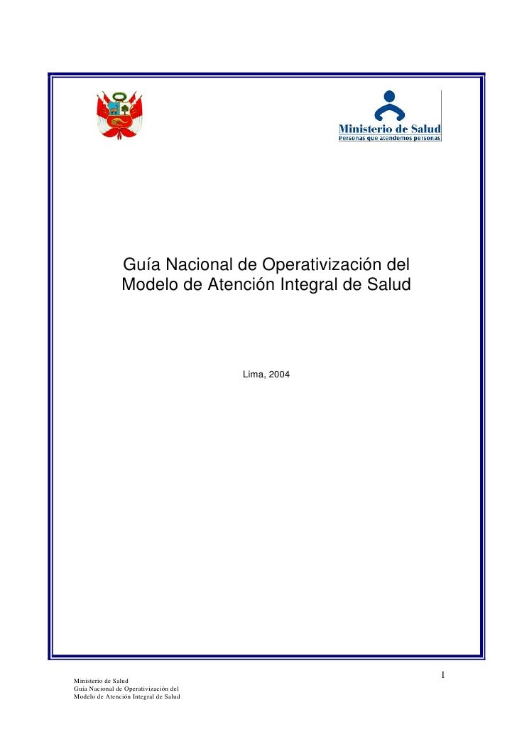 Guia de operativizacion del manual de atencion integral