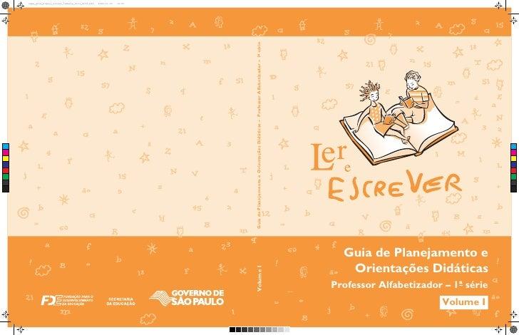 Guia de planejamento e orientações didáticas  2º ano vol 1