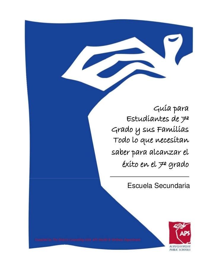 Guia de planificacion para estudiantes de 7o grado