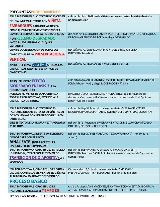 PREGUNTASPROCEDIMIENTO EN LA DIAPOSITIVA 2, CUYO TITULO ES ORDEN DEL DIA, MUEVA EL TEXTO CON VIÑETA  r:clic en la diap. 2/...