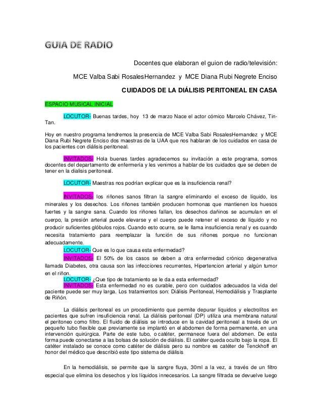 Docentes que elaboran el guion de radio/televisión: MCE Valba Sabi RosalesHernandez y MCE Diana Rubi Negrete Enciso CUIDAD...