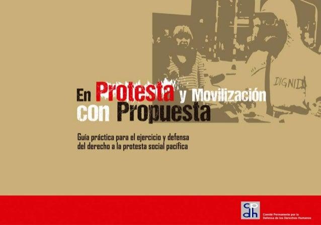 Presentación 1 Guía práctica para el ejercicio y defensa del derecho a la protesta social pacífica En Protesta y Movilizac...