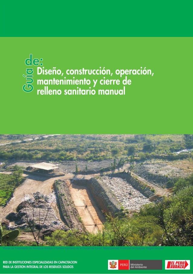 MINISTERIO DEL AMBIENTE 2 RED DE INSTITUCIONES ESPECIALIZADAS EN CAPACITACION PARA LA GESTION INTEGRAL DE LOS RESIDUOS SOL...