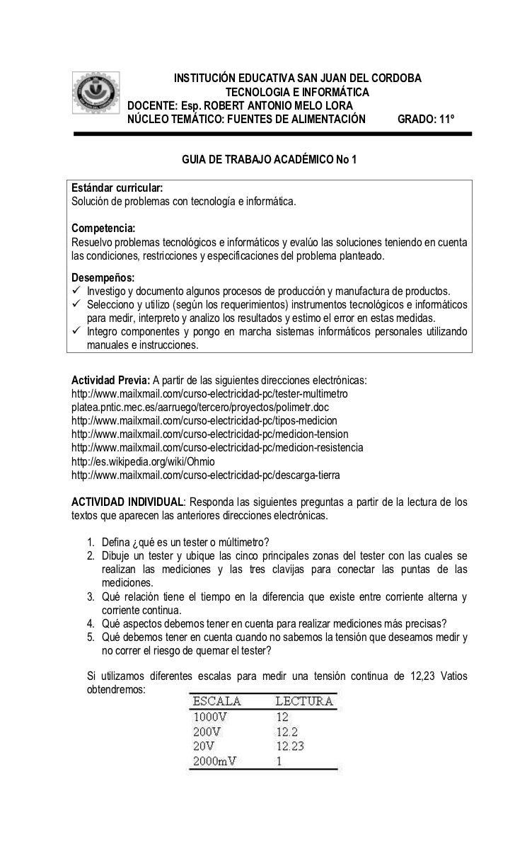 INSTITUCIÓN EDUCATIVA SAN JUAN DEL CORDOBA                              TECNOLOGIA E INFORMÁTICA             DOCENTE: Esp....