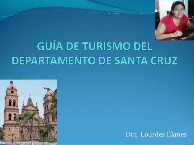 Guia de turismo de departamento de santa cruz
