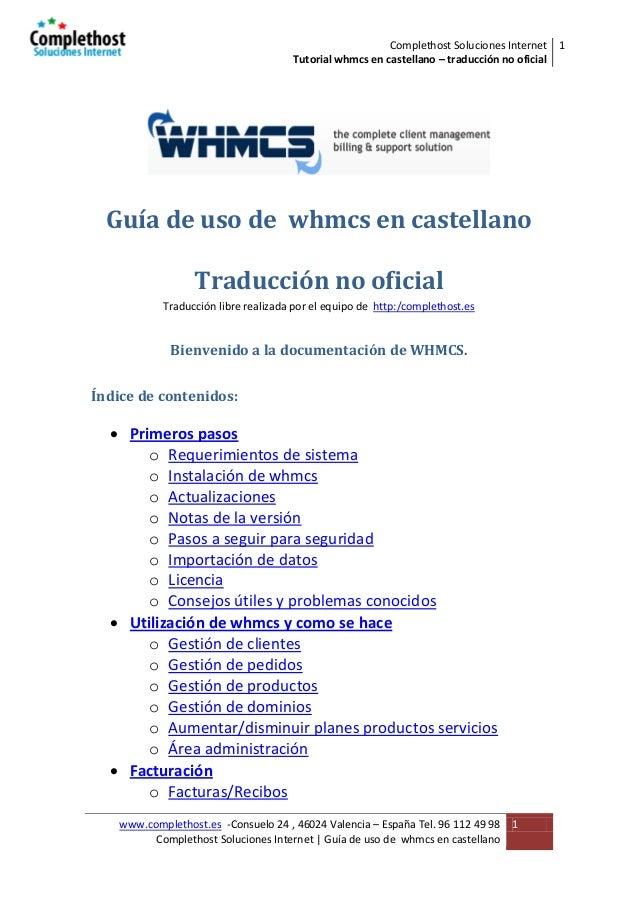 Guia de uso de whmcs en castellano