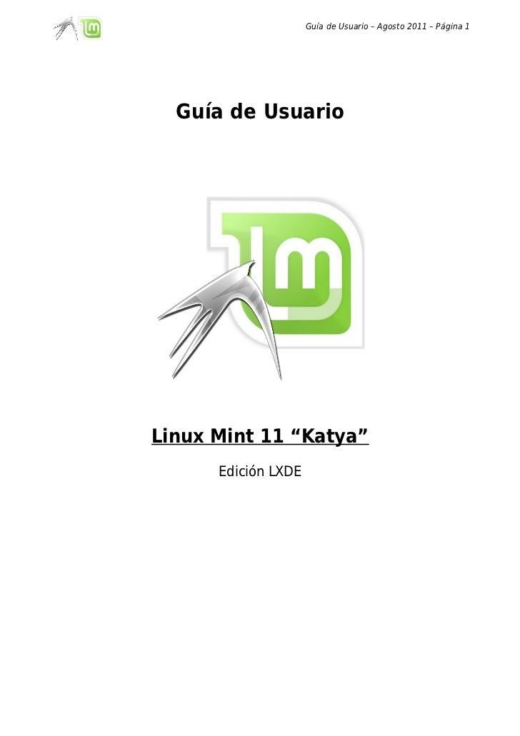 Guia de usuario de Linux Mint 11 LXDE