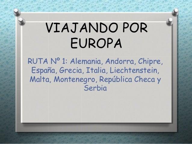 Guia de viaje por Europa