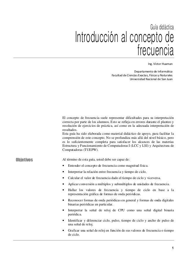 Guía didáctica                     Introducción al concepto de                                       frecuencia           ...