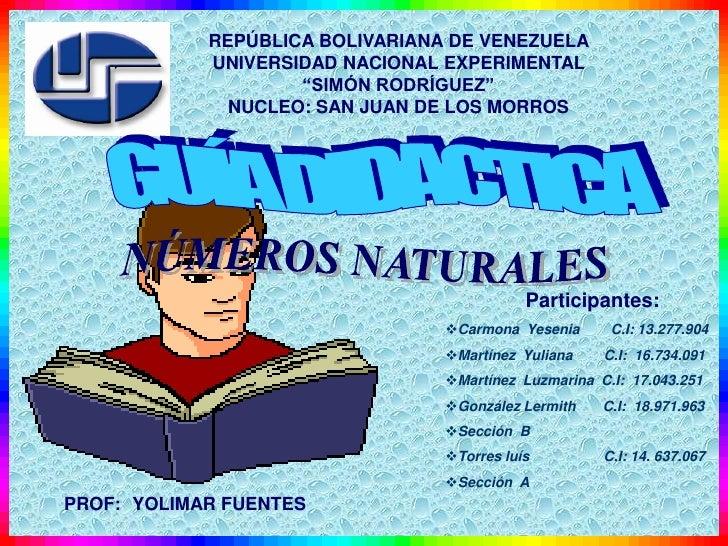 "REPÚBLICA BOLIVARIANA DE VENEZUELA             UNIVERSIDAD NACIONAL EXPERIMENTAL                     ""SIMÓN RODRÍGUEZ""    ..."