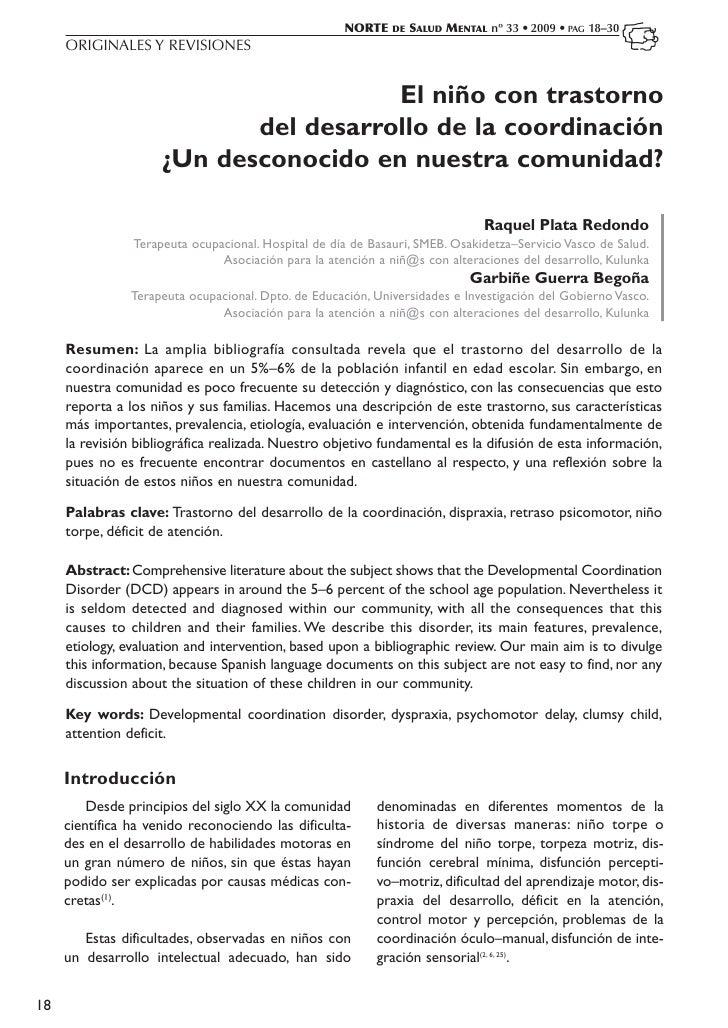 NORTE    DE   SALUD MENTAL nº 33 • 2009 • PAG 18–30     ORIGINALES Y REVISIONES                                       El n...