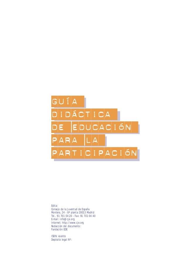 EDUCACIÓN PARA LA PARTICIPACIÓN