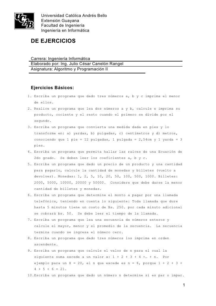 Universidad Católica Andrés Bello       Extensión Guayana       Facultad de Ingeniería       Ingeniería en Informática   D...