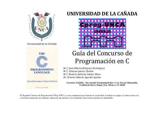 Guia ejercicios c_cprog_unca_2012