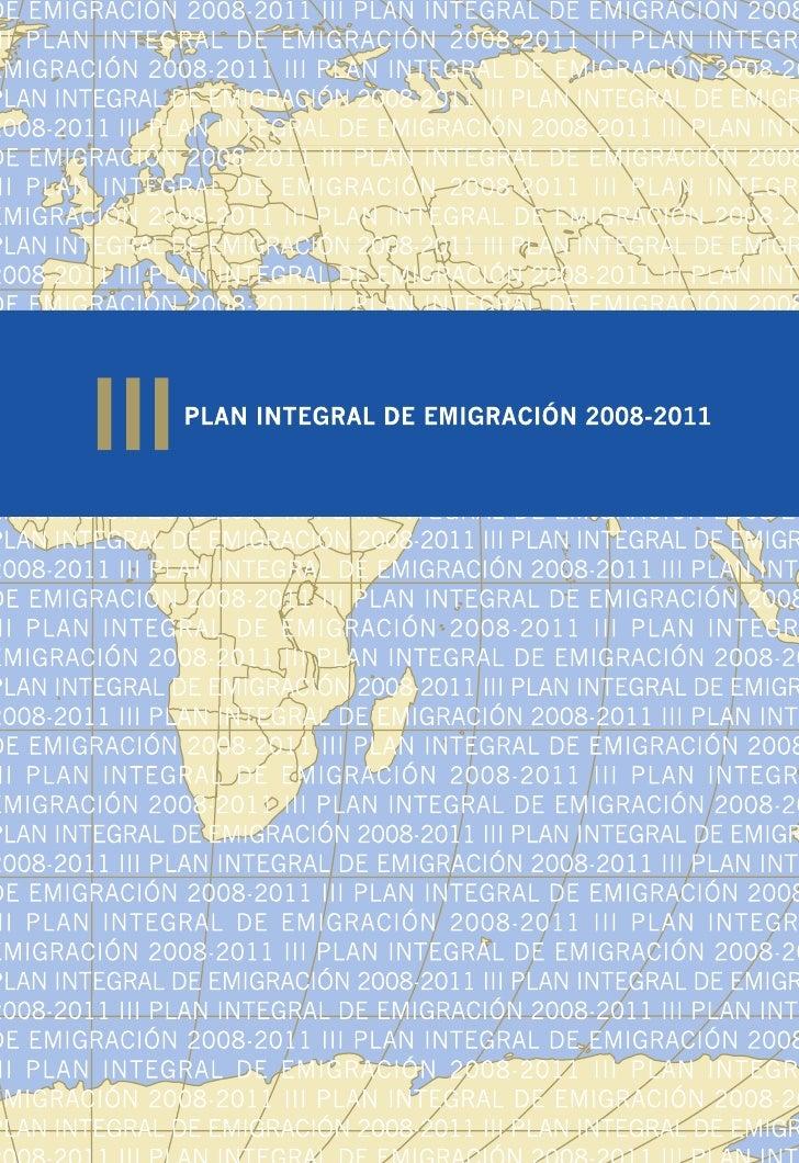 Plan Integral de la Emigración de Asturias 2008-2011