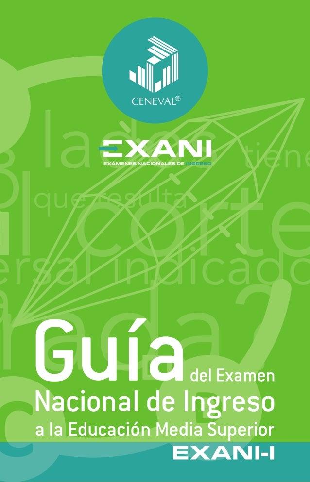 Guía examen nacional de ingreso Prepa 2013 - Exani-i