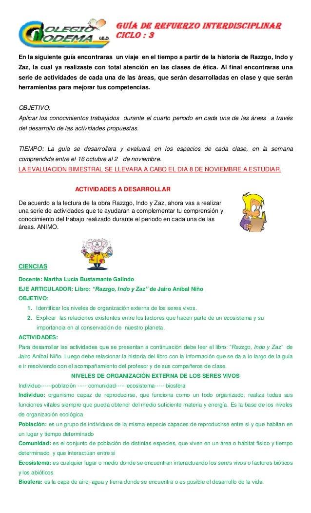 GUÍA GRADO 6° PERIODO 4° CODEMA-2012