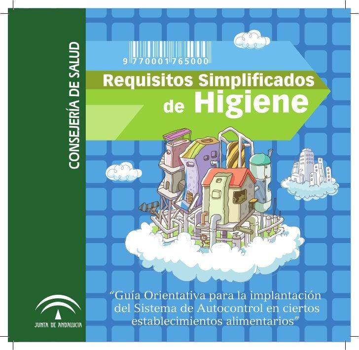Requisitos Simplificados de Higiene - Junta de Andalucía