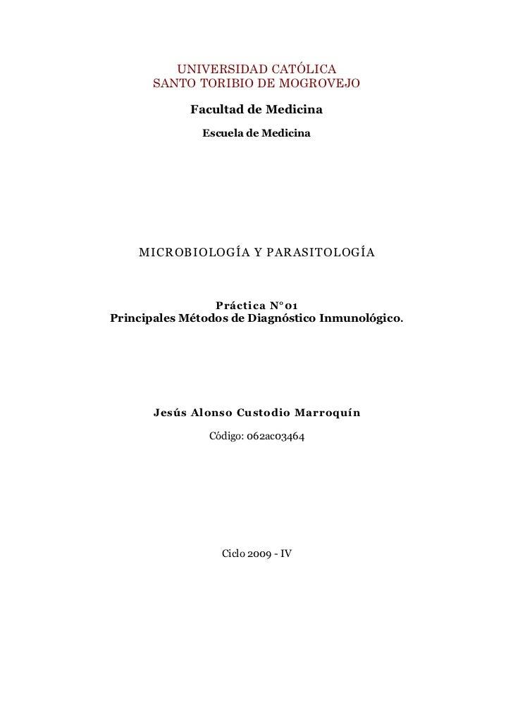UNIVERSIDAD CATÓLICA        SANTO TORIBIO DE MOGROVEJO               Facultad de Medicina                Escuela de Medici...
