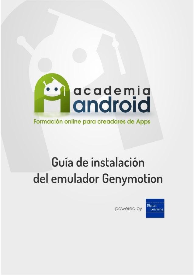 Guia instalacion del emulador Genymotion