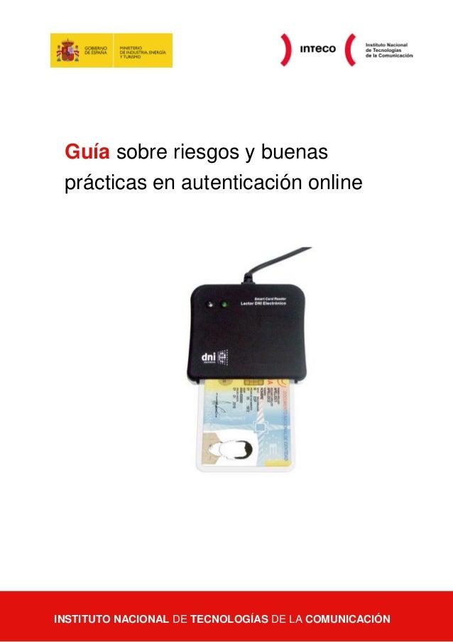 Guía sobre riesgos y buenas prácticas en autenticación online  Guía sobre riesgos y buenas prácticas en autenticación onli...