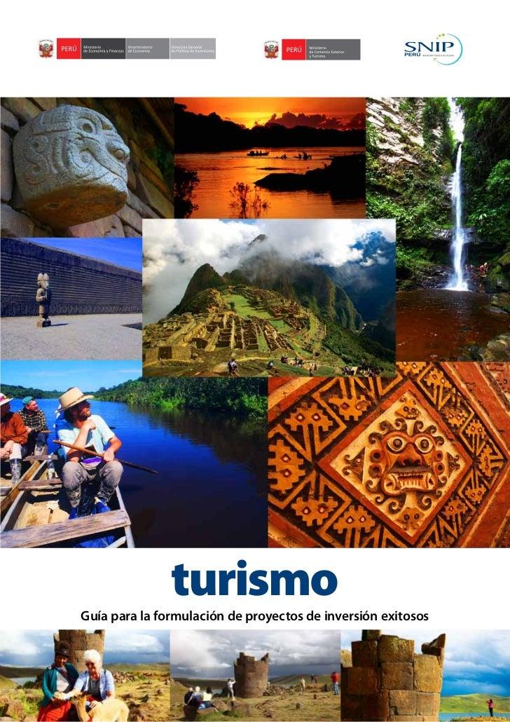turismoGuía para la formulación de proyectos de inversión exitosos