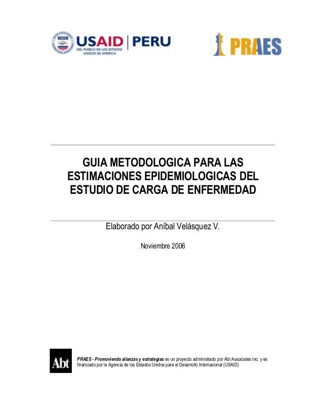 Guia metodologica del estudio de carga de enfermedad del Perú