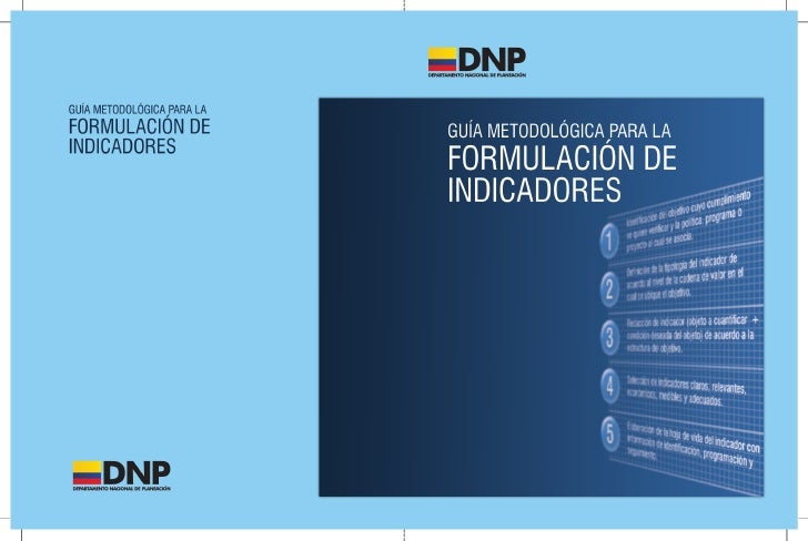 GUÍA METODOLÓGICA PARA LA                      FORMULACIÓN DE INDICADORES                          DEPARTAMENTO NACIONAL D...
