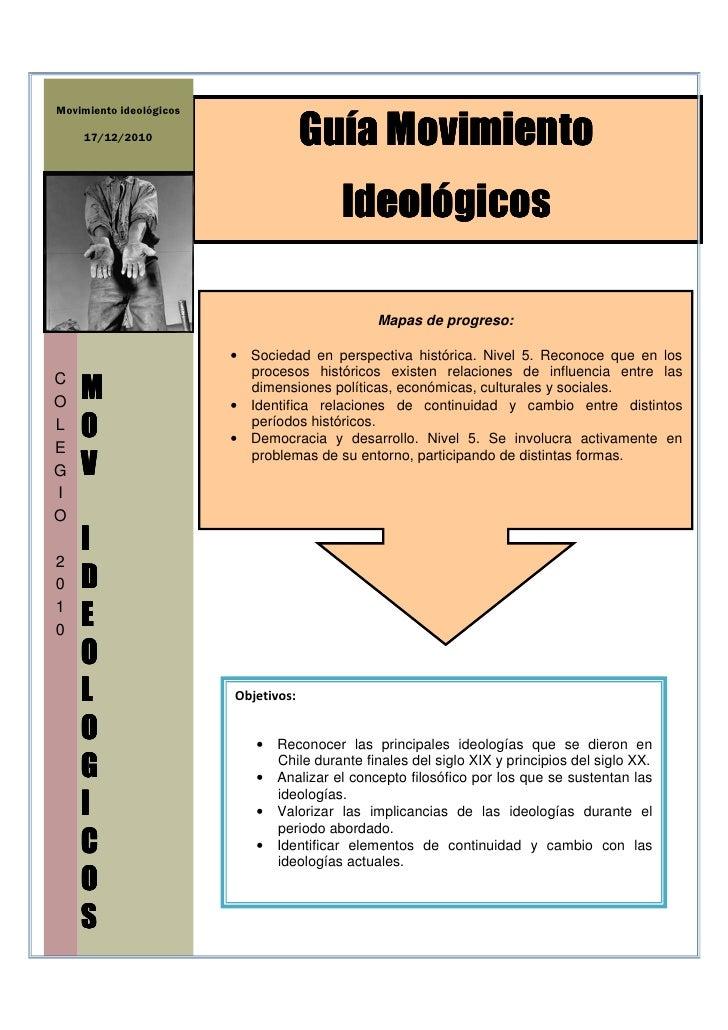 Movimiento ideológicos    17/12/2010                        Guía Movimiento                                         Ideoló...
