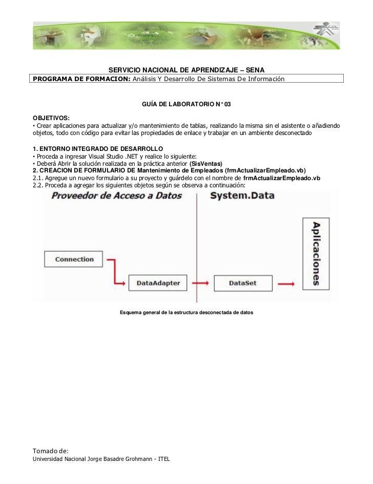 SERVICIO NACIONAL DE APRENDIZAJE – SENAPROGRAMA DE FORMACION: Análisis Y Desarrollo De Sistemas De Información            ...