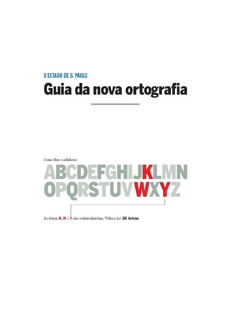Guia Nova Ortografia da Língua Portuguesa