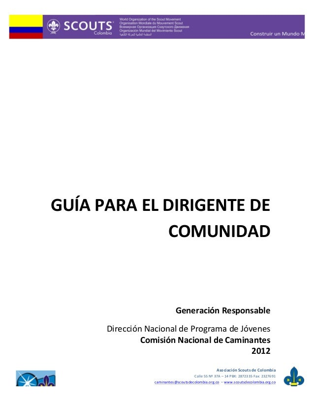 Guia para dirigentes de comunidad colombia 2012