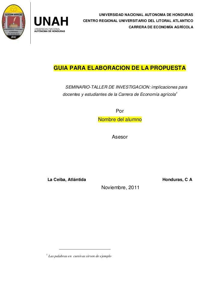 UNIVERSIDAD NACIONAL AUTONOMA DE HONDURAS                           CENTRO REGIONAL UNIVERSITARIO DEL LITORAL ATLANTICO   ...