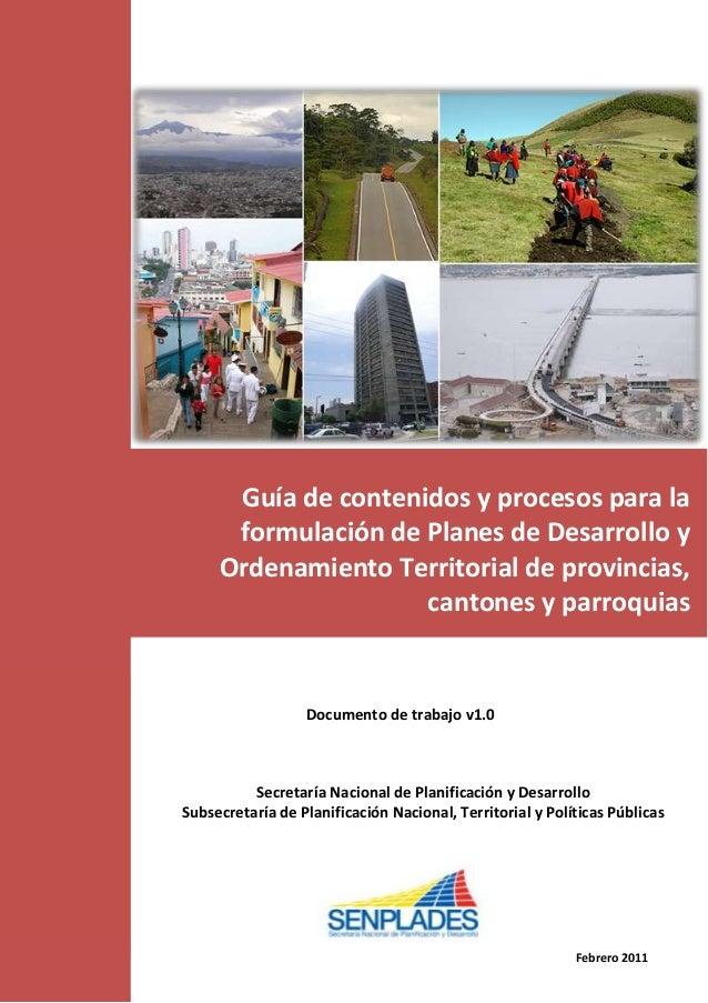 Guía de contenidos y procesos para la                               formulación de Planes de Desarrollo y                 ...