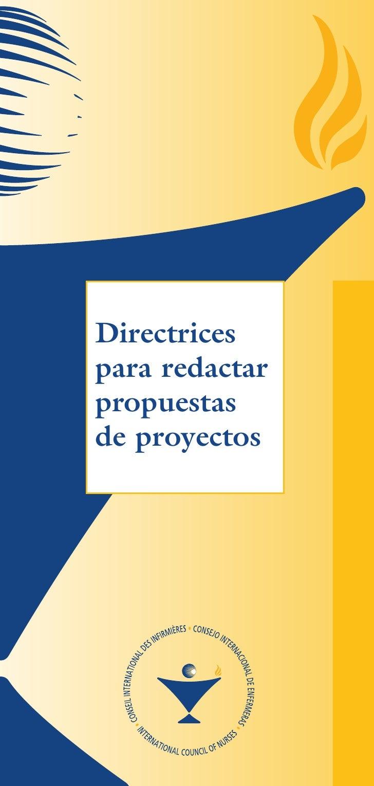 Directrices para redactar propuestas de proyectos