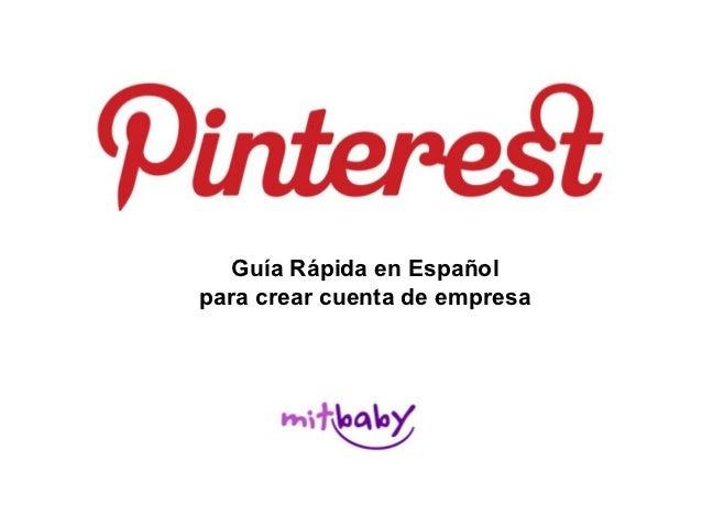 Guia Pinterest para perfiles de empresa
